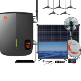 100W Solar Home Systems Solar Battery Storage System with Lights TV Fan Radio and Mobile Charging