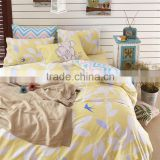 Professional manufacture 40s bedding set 128*68 pigment printing cotton flat sheet sets whole home comforter sets