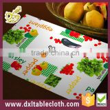 Customized full color printing Hotel Plastic placemat