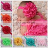 cute hot selling children girls handmade hair accessories fascinating mesh flower headband party hair accessory MY-AC0012