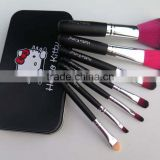 7pcs Newest makeup brushes professional synthetic hair hello kitty cosmetic makeup brushes