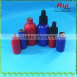 Wholesale daily care aluminum bottle,aluminum e-juice bottle with black child proof dropper cap