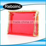 pvc handle bag, clear pvc plastic bag with snap button