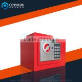 Red Mini Safes Box Key Operated Home Security Money/Cash Safes