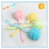 plastic long handle puff mesh bath sponge                                                                         Quality Choice
