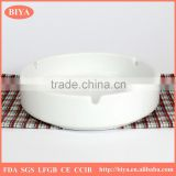 personalized funny promotion handmade white porcelain ceramic ashtray accept custom logo design decal printing