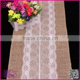 30*275cm 221g Lace Burlap Hessian Country home Wedding Party Decoration modern Table Runner