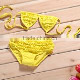 wholesale products hot selling Summer fancy girl flower bikini bathing suit+hat, cute baby swimming suit kids swimwear