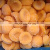 frozen IQF yellow peach halves