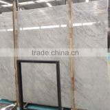 High quality polished Carrara white marble slab