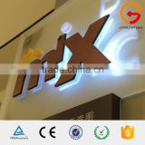 Mirror acrylic letter box 3d led backlit outdoor portable digital signage / sign