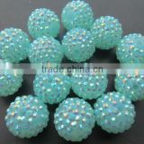 Large bulk Colorful Resin Rhinestone 20mm Ball beads Hot Sale for Jewerly Chunky Kids Necklace Jewelry