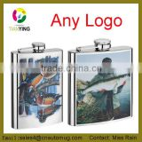 Hot unique promotional gift plastic hip flask FDA