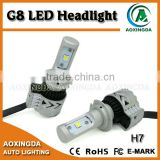 High performance 12~24V 70W H7 G8 led headlight 6500k made with XHP50, adjustable base 360 degree light