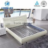 Hot Selling Modern White Leather Bed Frame