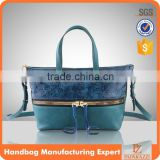 5133 Fabrica Trendy imperial emboss print design blue bag bolso de mujer bohemian style lady handbags OEM factory design.