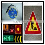 new flashing electroluminescent el light car sticker with high brightness