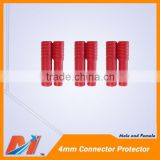 Maytech 4mm Golden Banana Connector Protector male and female in pair
