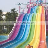 Swimming pool fiberglass water slide