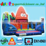 Combination Castle inflatable, super spongebob inflatable Carnival Game