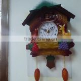 Decorative big wall clock (ABS plastic material and 16 music hourly chime)