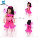 child fairy dress costume with butterfly wing