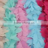 17 Colors Available Chiffon Leaves Trimmings For Dress,Chiffon Lace Trimmings,Peach Pink Mint Aqua ivory Trimmings For Garments                                                                         Quality Choice