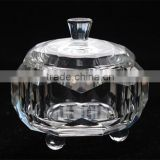 Crystal bowl with lid elegant crystal sugar pot                                                                         Quality Choice