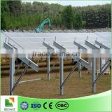 ground screw solar mounting system solar power system aluminum ground solar mount structure