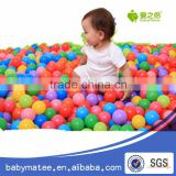 Babymatee Crazy 100 pcs Ball Soft Ocean Ball Colored Hollow Plastic Ball Baby For Kid Toy Swim Pit