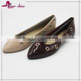 SSK16-622 lady dress shoe,evening shoes with eyelet ,china footwear design shoes
