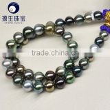 tahitian pearl jewelry mixed color beautiful charming tahitian pearl necklace 16 inch