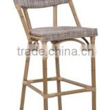 high quality outdoor furniture bamboo look tall bar stool