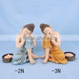 Resin decorative crafts buddha tea light holder
