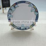 sublimation blank plate with flower design