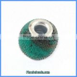 Wholesale Turquoise & Black Indonesia Round Jewelry Resin Beads PCB-M100545