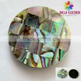 Natural Abalone Shell Pearl Round Dics 25mm thickness 2.5mm Beads