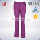 Top quality wholesale windproof polyester oiutdoor ski hiking women's pants
