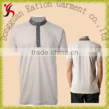 promotional wholesale plain gray standing collar polo shirt golf shirt