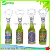New liquid insert opener custom beer bottle shape bottle opener with magnet Fridge sticker
