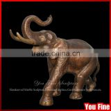 Outdoor Antique Bronze Elephant Statue For Sale