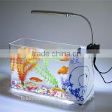 High quality beautiful acrylic oxygen fish tank with lamp