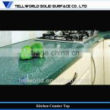 2013 Trendy Design Solid Surface Artificial Marble Seamless Customized Kitchen Counter Top