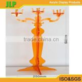 Manufacturing crystal golden color acrylic candle stand candle candelabra                                                                         Quality Choice