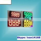 High Waterproof/nowaterproof gas station digital display 7 Segment LED Gas Price Display signs