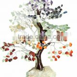 Wholesale Mineral Gem Tree : Mineral Base Chakra 210 Chips Gemstone Tree