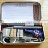 Luxury and handy emergency survival set with tin box