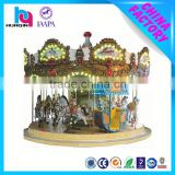 new design fireproof fiberglass carousel horse ride for kids playground rides
