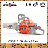 EU II certificate 54.6cc chain saw hot sale petrol chainsaw machines with affordable price