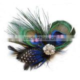Popular party hair accessories, peacock Feathers hair clip/ hairpin